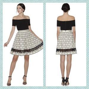 Alice + Olivia Mazie Lace Combo Skirt